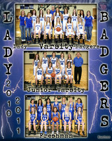 Lady Badgers Composite 8x10